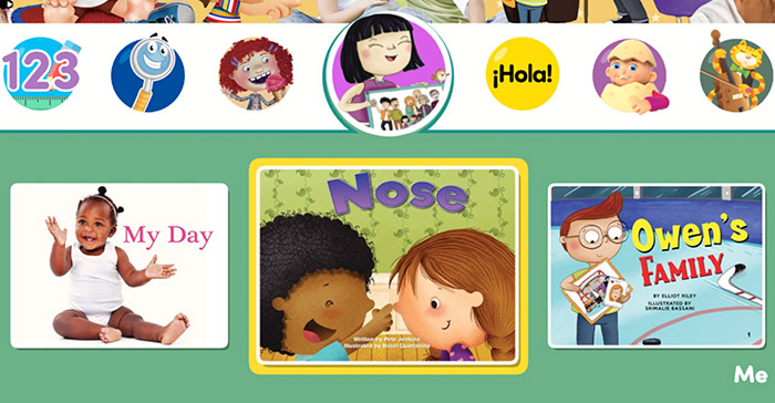 Some of the books from the new Me series for toddlers