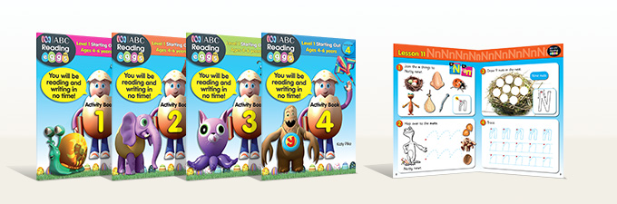 Learn to Read ABC Reading Eggs Activity Books Level 1