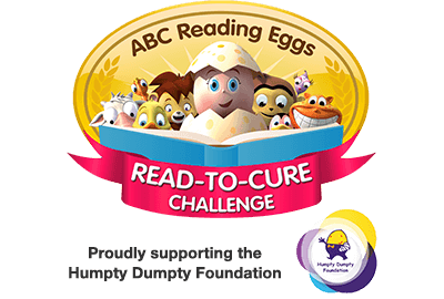Reading Eggs Read-to-Cure Challenge - proudly supporting the Humpty Dumpty Foundation