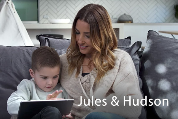 Testimonial video from Jules & Hudson